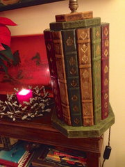 Leather Bound Books Table Lamp
