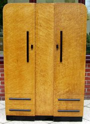 A birds eye maple 2 door wardr