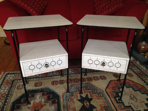 Antiques atlas funky pair of 1960 39 s bedside or side tables for Funky bedside cabinets