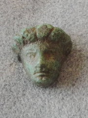 A Roman Bronze Face Mount