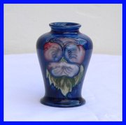 William Moorcroft Pansy Vase c
