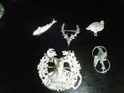 scottish silver brooches