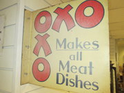 vintage oxo advertising sign s