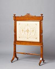 A satinwood firescreen