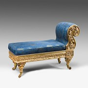 Regency gilded small chaise lo
