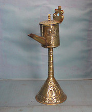 Dutch brass oil lamp