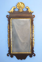 Georgian mahogany wall mirror