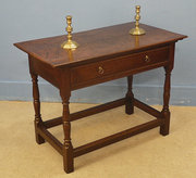 Late 17th cent oak side table