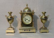 Champleve Clock Set