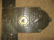 Aesthetic Movement brass door