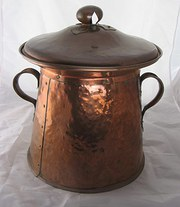 Arts and Crafts copper coal bi