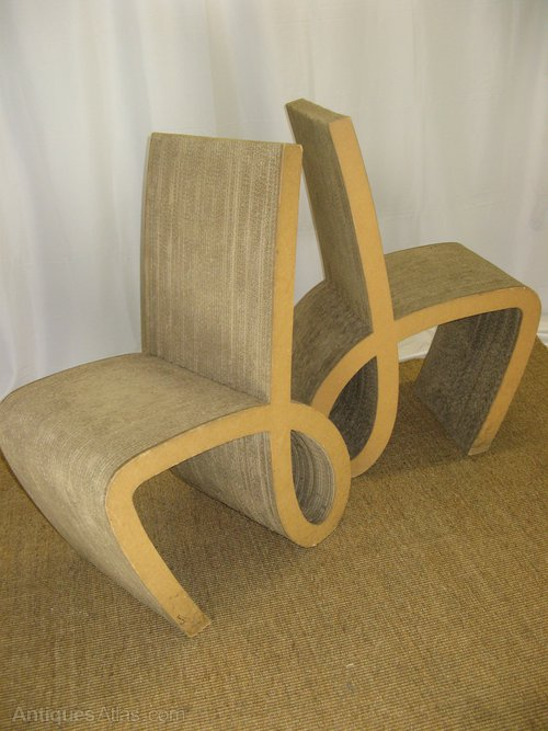 Cardboard chairs a pair