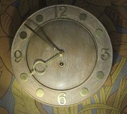 Limed oak wall clock Smiths En