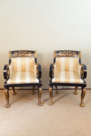 Empire Style Ebonised and Gilt