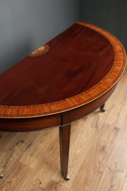 Inlaid Mahogany Demi Lune Side