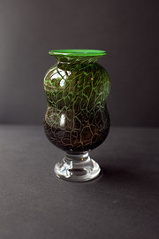 Kosta Boda Shaped Green Vase