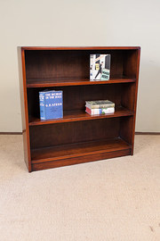 Mahogany Open Fronted Bookcase