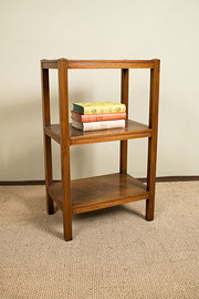 Mahogany three tier side table