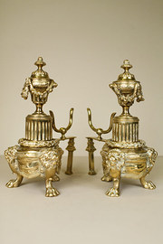 Pair of Brass Chenets