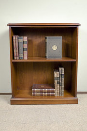 Walnut Open Front Bookcase