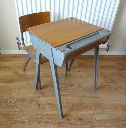 Antiques Atlas Childs School Desk Amp Chair