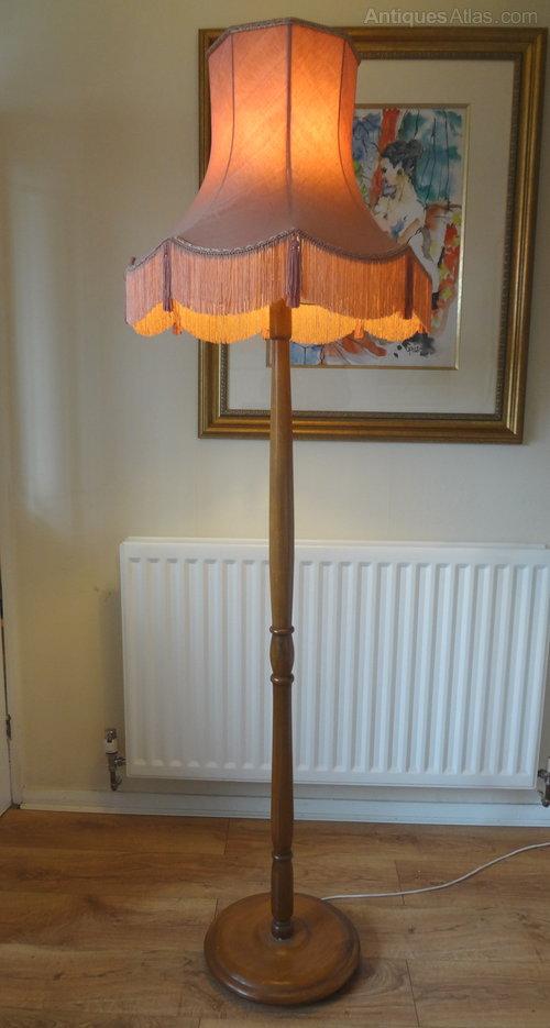 Antiques Atlas Standard Lamp Amp Silk Shade