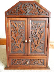 arts  crafts cabinet