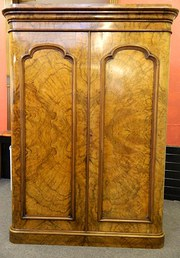 large victorian walnut wardrob