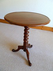 wine table  tripod table