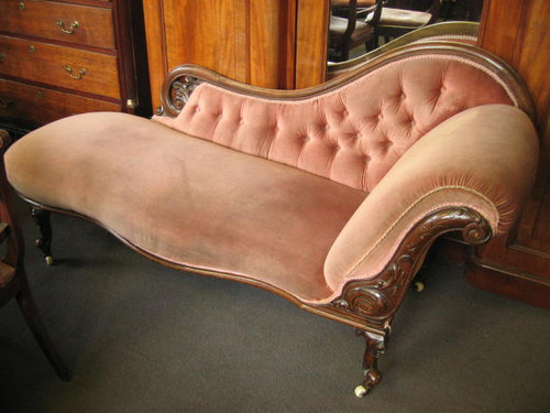 Victorian chaise lounge antiques atlas for Chaise lounge antique furniture