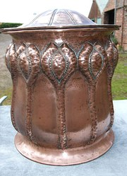 Copper Arts  Crafts Coal Bin