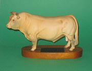 Beswick Charolais Bull on wood