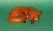 Beswick Fox Curled Model No 10