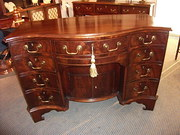 Antique Mahogany Serpentine De