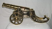 Vintage Brass Cannon