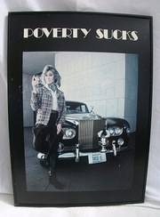 Vintage  Poverty Sucks Poster