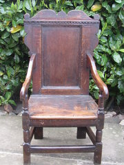 17thc Oak Wainscott chair