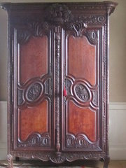 18thc carved oak French Armoir