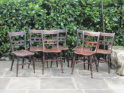 19thc Harlequin set of 5 Thame