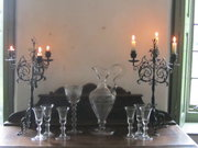 A pair of 19thc Wrought Iron C