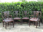 set of 6 Chippendale revival d