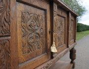 Profusely Carved Oak Sideboard