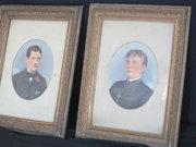 A pair of gilt framed portrait