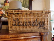 Large Vintage Wicker Laundry B