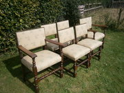 Set of 6 Late Victorian Oak Ch