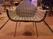 1960s Retro tub chairblack and