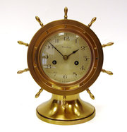 Gilt Pilots Clock by Waterbury