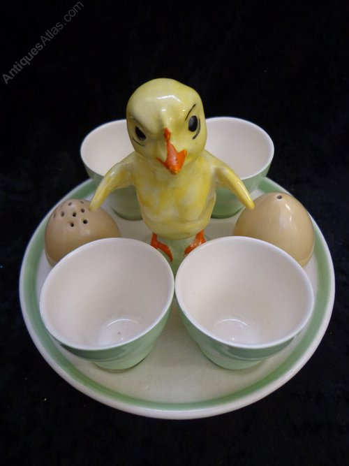 Antiques Atlas Crown Devon Egg Cup Set