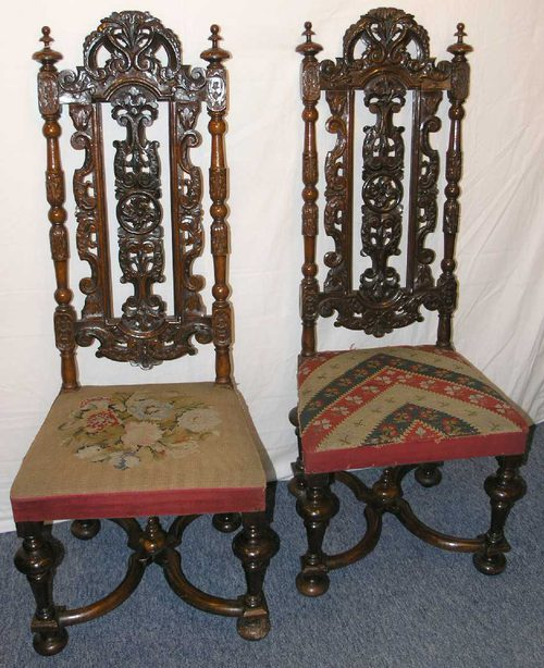 Good pair of antique dutch walnut hall chairs antiques atlas for Dutch design chair uk