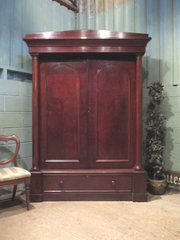 ANTIQUE WILLIAM 1V MAHOGANY DO